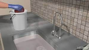 Unclogging A Double Bathroom Sink by 3 Ways To Unclog A Kitchen Sink Wikihow
