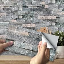 18 tlg fliesenaufkleber mosaik aufkleber folie tapete für bad küche selbstklebende deko