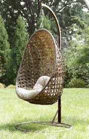 Knotted Melati Hanging Chair Natural Motif by Have To Have It Island Bay Resin Wicker Hanging Egg Chair With
