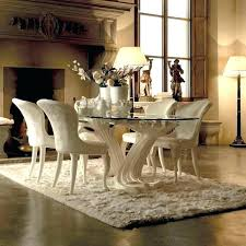 Italian Dining Set Furniture Table And Chairs Exclusive Designer Upholstered Chair Glass