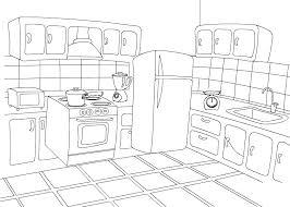 coloriage cuisine cuisine 1 bâtiments et architecture coloriages à imprimer