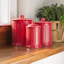 Ceramic Kitchen Canister Sets Nicolette Ceramic Kitchen Canister Set Of 3