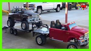 100 Custom Flatbed Trucks Playing With Built Gooseneck Trailer Truck Hauling Powered Ride On Dodge Ram 12 Volt
