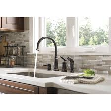 Overstock Bronze Kitchen Faucets by Shop Moen Edison Mediterranean Bronze 1 Handle High Arc Kitchen