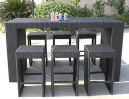 Berlin Gardens Outdoor Bar Set With Backless Stools From