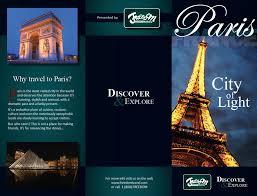Travel Brochure To Paris Samples Pics Free