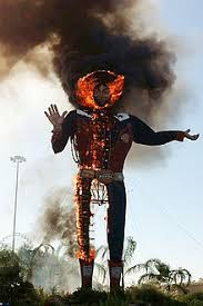 Big Tex As Seen During The Fire On 19 October 2012