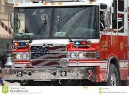 Fire Truck In A Parade In Small Town America Editorial Image - Image ...