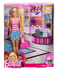 Barbie Doll With Pets Pink Online India Buy Dolls And Dollhouses For