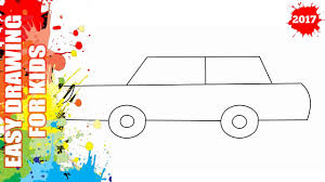 How to draw a car EASY and SIMPLE for kids Easy step by step drawing