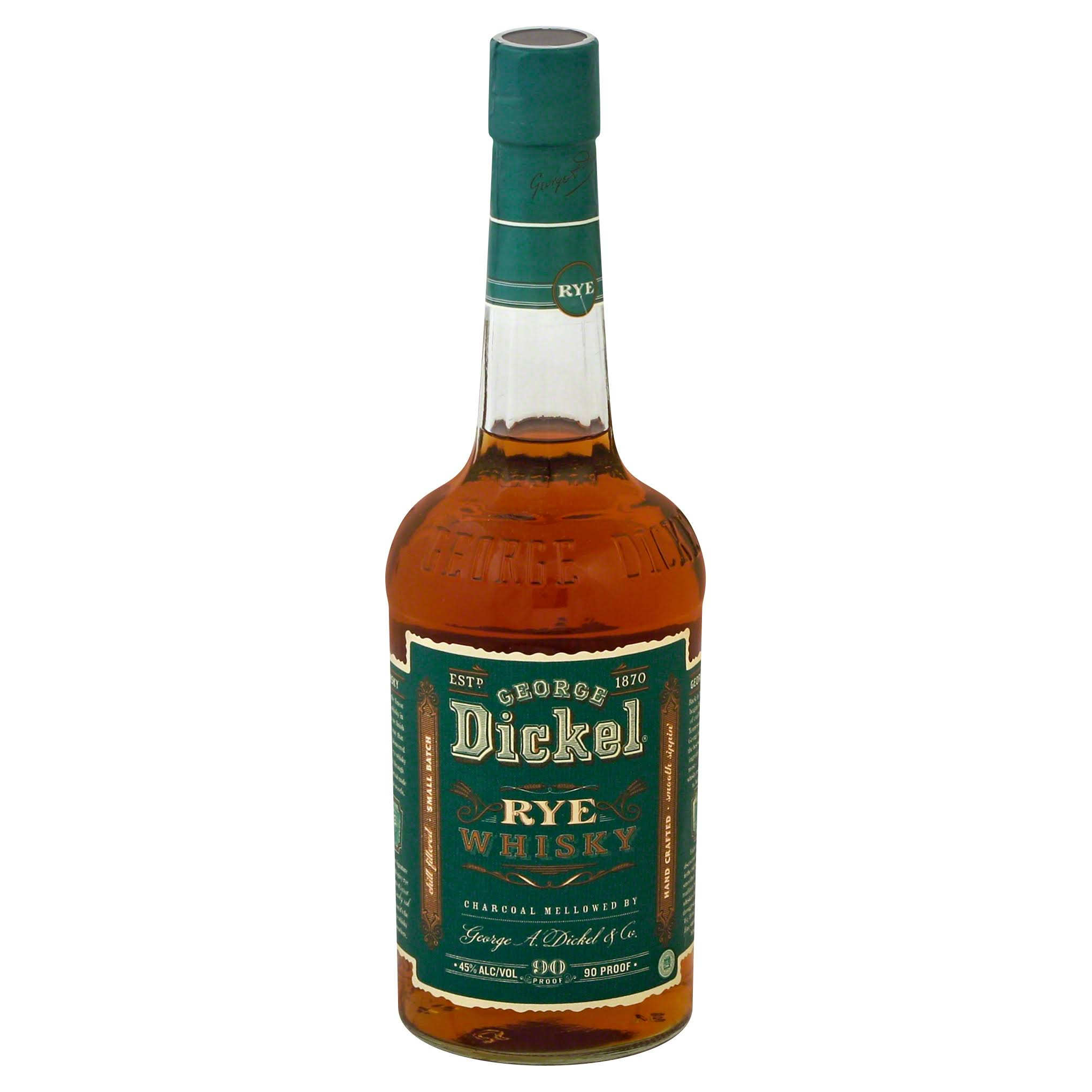 George Dickel Rye Whiskey - 750 ml bottle