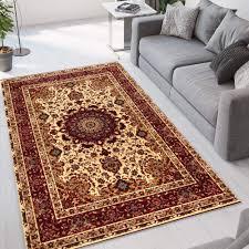perserteppich für wohnzimmer mit orientalischem blumenmotiv istanbul cre002ist