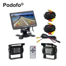 Podofo Dual Backup Camera And Monitor Kit For Bus Truck RV IR Night ... Chevrolet And Gmc Multicamera System For Factory Lcd Screen Wireless Back Up Camera Installation Silverado Youtube 5 Inch Lowest Cost Truck Rear View Camera System Lw050b Lintech Backup On Ford Transit Box Rear View Bus Szhen Autochose Technology 7 Monitor Reversing Eyeball Dome Camareversing Elinz Cheap Find Deals Line At Best Wireless Back Up Cameras Truck Amazoncom Double Dual Lens Backup 45 120 Angle Gps Parking Sensor Monitor Rv