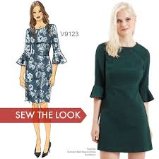 Love The Flutter Sleeves On This Dress Pattern Sew The Look With