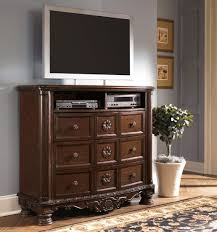 ashley furniture north shore sleigh bedroom set in dark brown