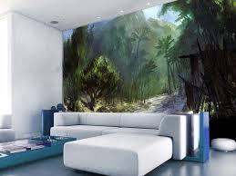 forest painted wall murals living room homescorner