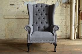 ohrensessel sessel fernseh design polster sofa chesterfield textil neu 349