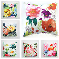 Decorative Couch Pillow Covers by Canvas Cotton Blend Floral Cushion Cover Decorative Throw Pillows