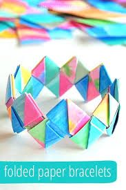 Easy Crafts For Teenage Girls To Do Fun Teens Happiness Is Homemade Folded Paper Bracelets A