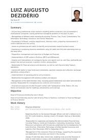 Finance Director Resume Example