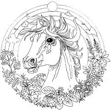 Horse Coloring Picture Of Mandala