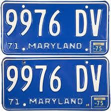 100 Truck License 1975 Maryland Plates Brandywine General Store