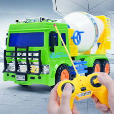 100 Cement Mixer Toy Truck Engineering Car RC Scale Diecast S Plastic Car