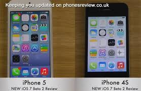 iPhone 5 vs 4S 4 on new iOS 7 beta update PhonesReviews UK