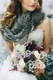 Whimsical Woodland Winter Wedding Ideas With Alter Bouquet