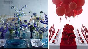 5 Monochromatic Wedding Decor Ideas Inspiration Blue And Red
