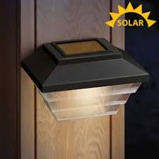 Solar Lights For Deck Stairs by 8 Solar Wedge Lights Corner Steps Fence Posts Deck Outdoor Patio