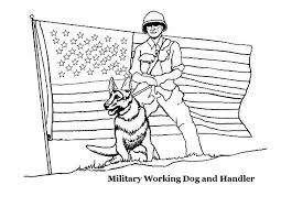 American Revolution Coloring Pages Pdf Military Working Dog And Handler Flag
