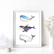 din a4 kunstdruck ungerahmt wal wale orca blauwal pottwal