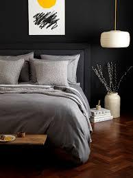 Secret Linen Store Relaxed Denim Graphite Grey Bed Set Love Dark BedroomsDark