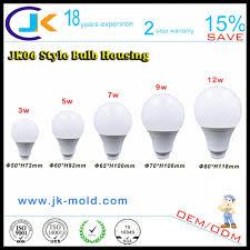 manufacturer provides straightly plastic aluminum led light bulb