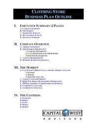 Fashion Store Business Plan – Line Business Plan Template Free ...