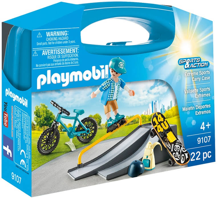 Playmobil Extreme Sports Carry Case - 22 Pieces