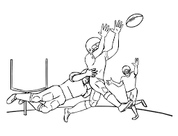 NFL Football Games Coloring Page For Kids