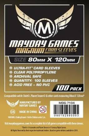 Mayday Games Magnum Gold Card Sleeves 80mm x 120 mm (Dixit)