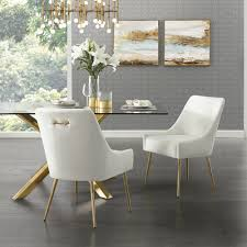 Inspired Home Capelli White/Gold PU Leather Metal Leg ... Mcr4502f Ding Chairs Fniture By Safavieh Ding Chairs Gold Coast Graysonline Brabbu Room Chair N 20 Gold Faux Leather Navy With Hdware Legs Askar In Black And Rose For Timeless Modern Style Alligator Embossed Leaf Table Set Cameron Beige Tufted Velvet On Stainless Steel Base Of 2 Meridian Akoya Pink Salvatore Grey