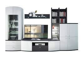 wohn concept bregenz 5 teilige wohnkombination 40 64 wo 80 für ihr wohnzimmer mit vitrine tv unterteil stauraumelement aufsatzregal und wandboard