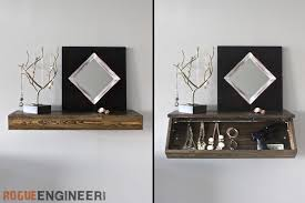 diy secret floating shelf free plans rogue engineer