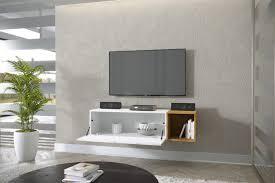 nola 10 hängender tv tisch modern wohnzimmer weiß schwarz braun hochglanz 134 cm esa home