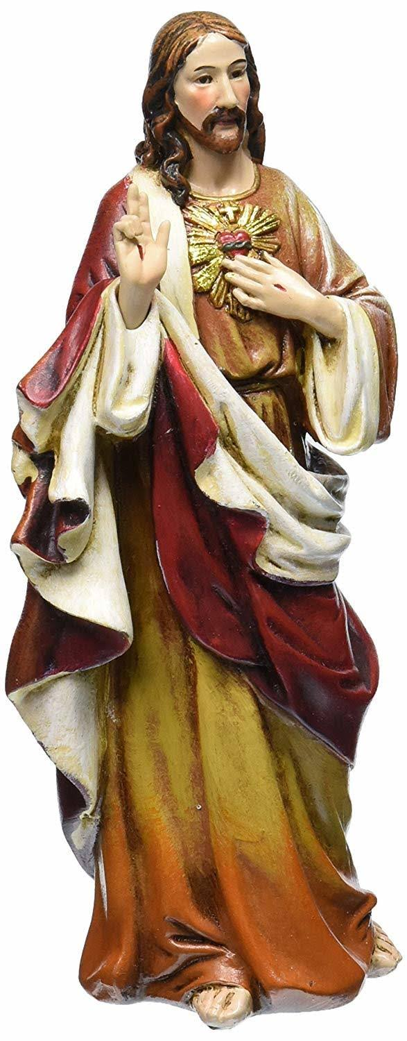 Joseph Studio the Sacred Heart of Jesus Religious Renaissance Figurine