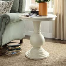 Wayfair Round Dining Room Table by Table Loganville End Pedestal Side Wayfair Antique White Round