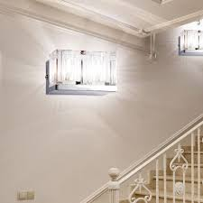 etc shop led wandleuchte 2er set wand design le leuchte halogen badezimmer beleuchtung glas chrom kaufen otto
