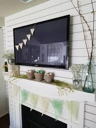 Decorating Your Mantel For Spring Using Milk Glass Vases Flowers