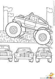 Grave Digger Monster Truck Drawing At Getdrawings ~ Cool Coloring Pages