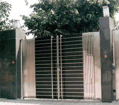 Modern Stainless Steel Main Gates Design Idea Fences Ideas Simple ... Simple Modern Gate Designs For Homes Gallery And House Gates Ideas Main Teak Wood Panel Entrance Position Hot In Kerala Addition To Iron Including High Quality Wrought Designshouse Exterior Railing With Black Idea 100 Design Home Metal Fence Grill Sliding Free Door Front Elevation Decorating Entry Affordable Large Size Of Living Fence Diy Wooden Stunning Emejing Images Interior