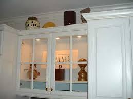 inside of kitchen cabinets glass lighting kitchen